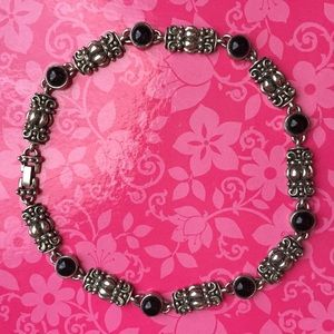 Jewelry - heavy Sterling Silver and Onyx necklace